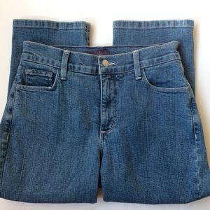 NYDJ crop denim jeans embroidered pockets